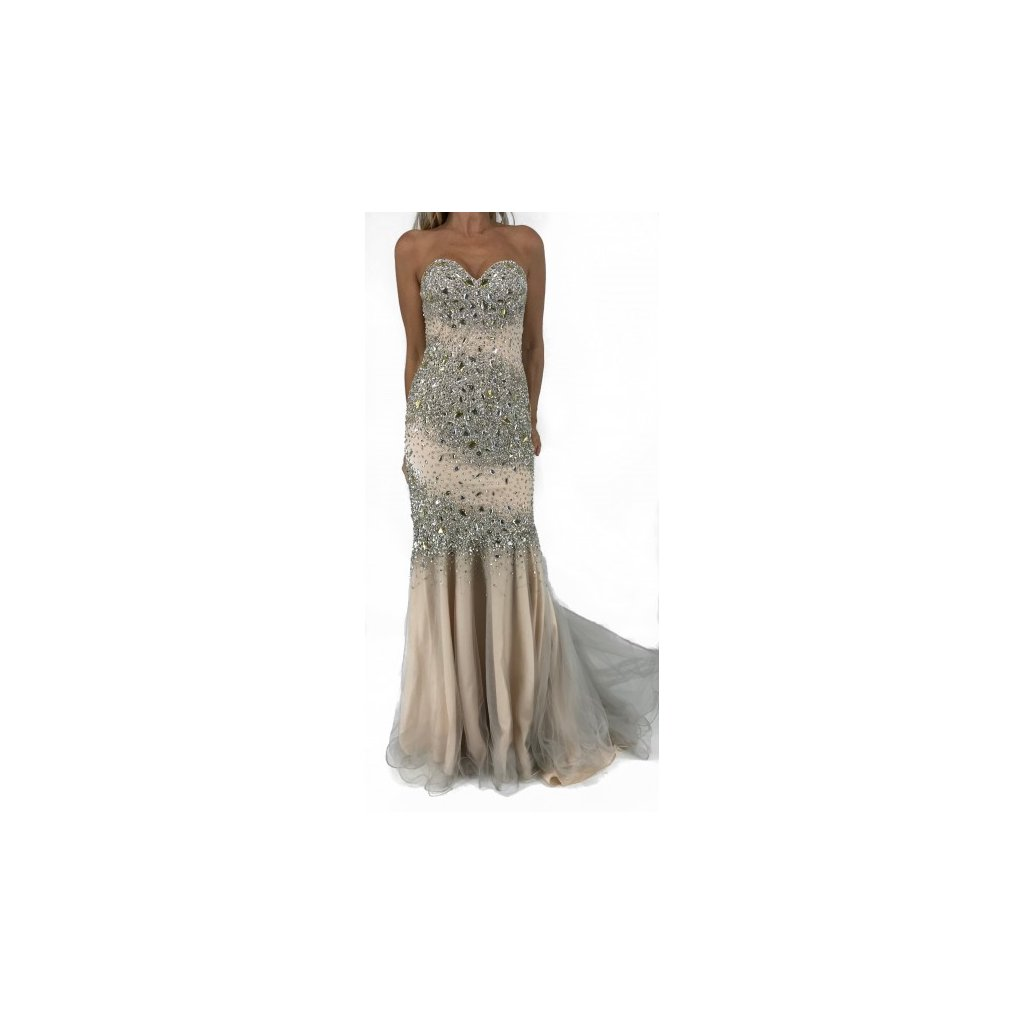 Creme Evening Dress