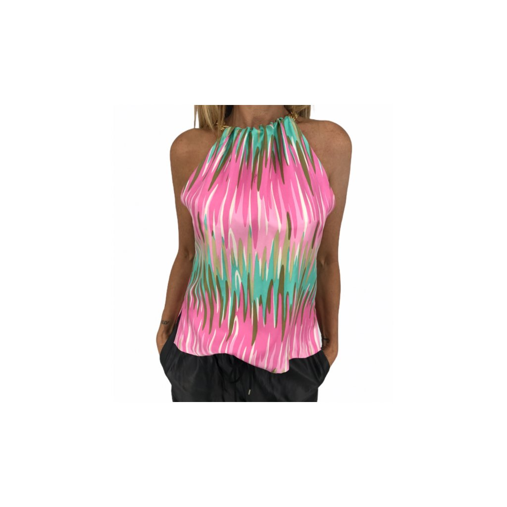Silk Colorful Top