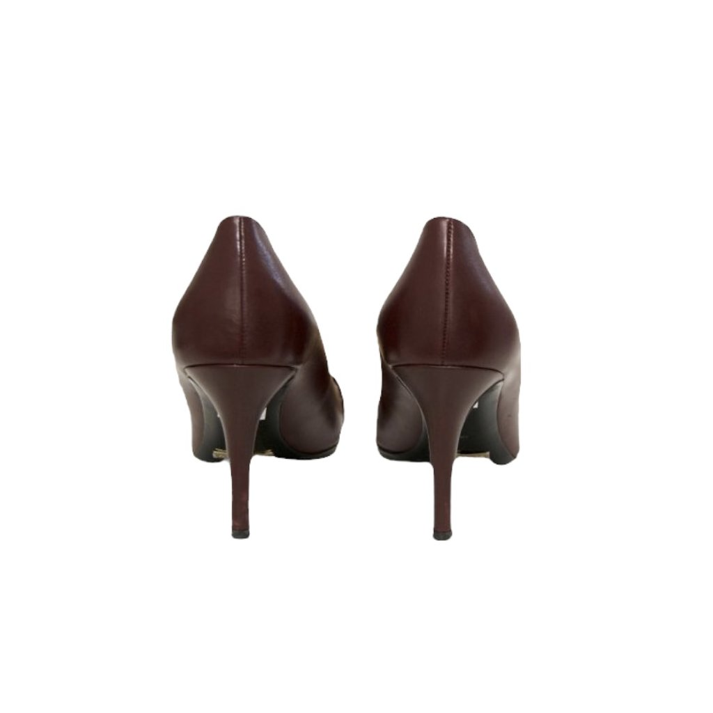 BURBERRY Burgundy High Heels 36