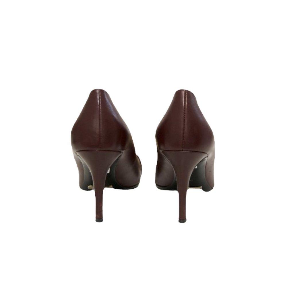 BURBERRY Burgundy High Heels