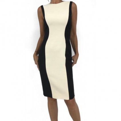 CHRISTIAN DIOR Black and White Dress
