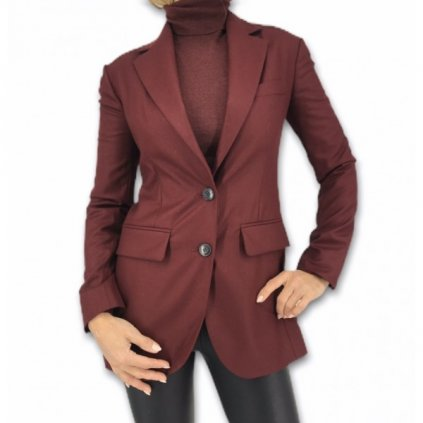 CHRISTIAN DIOR Bordeaux Virgin Wool Jacket
