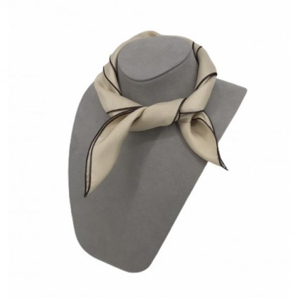 HUGO BOSS Beige Silk Scarf