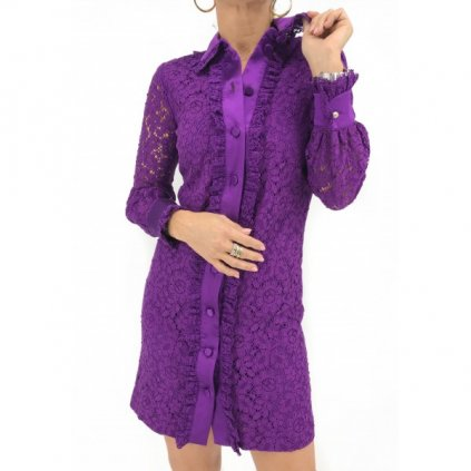GUCCI Violet Laced Dress