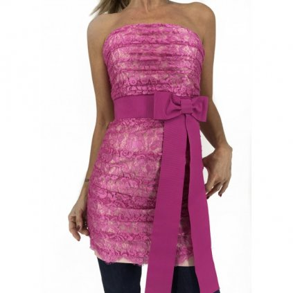 DOLCE & GABBANA Pink Strapless Dress