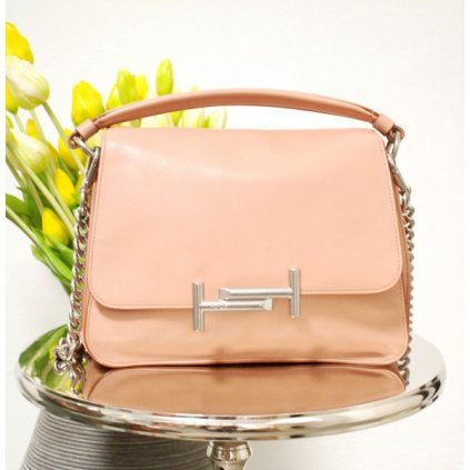 TOD'S double T leather babypink handbag NEW