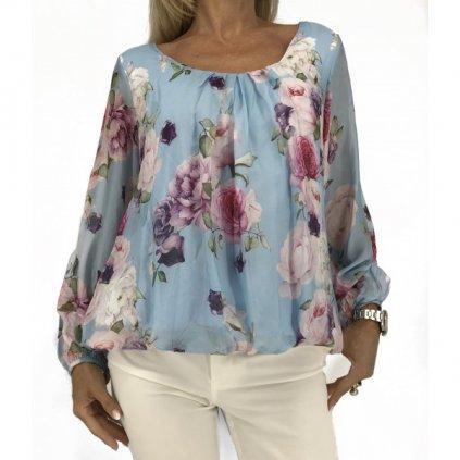 COLLEZIONE GAIA Flowered Silk Blouse