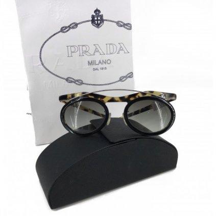 PRADA Silver Frame Sunglasses