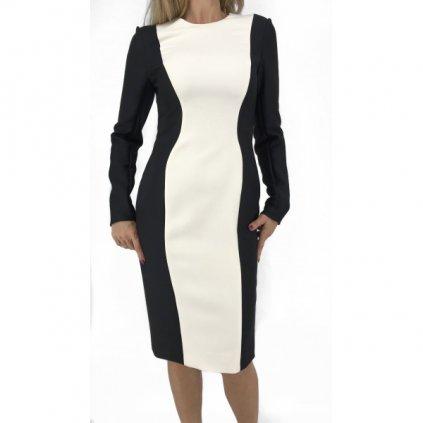 CHRISTIAN DIOR Virgin Wool Black & White Dress