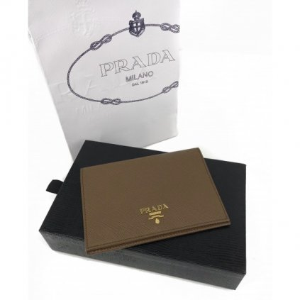 PRADA Brown Passport Cover