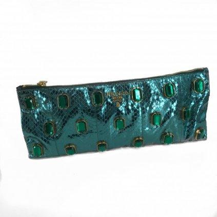 PRADA Python Skin&Stones Handbag