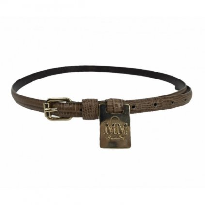 MAX MARA Brown Python-Skin Belt