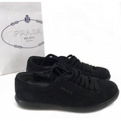 PRADA Black Suede Sneakers 36,5