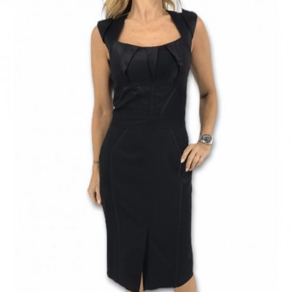KLARA NADEMLYNSKA Black Dress with Laced Back