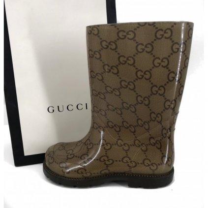 GUCCI KIDS GG Rubber Rain Boots