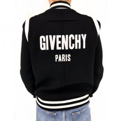 GIVENCHY Black Wool Bomber NEW