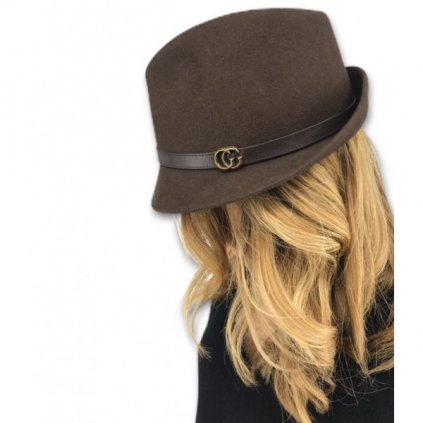 GUCCI Brown Suede Hat