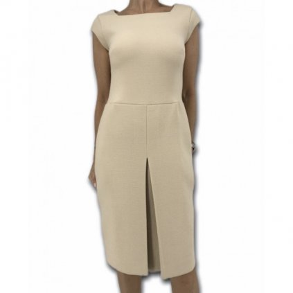 ELIE SAAB Silk & Virgin Wool Beige Dress