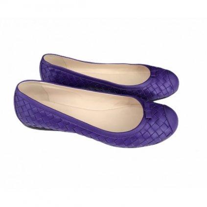 BOTTEGA VENETA Violet Ballerinas 40