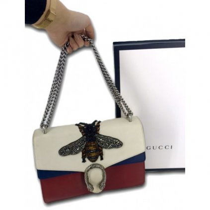 GUCCI Dionysus Large Bee Appliqué Shoulder Bag