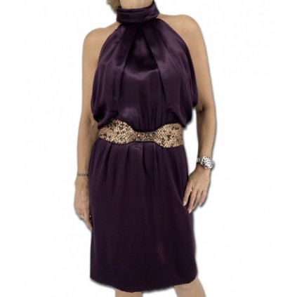ROBERTO CAVALLI Purple Silk Dress