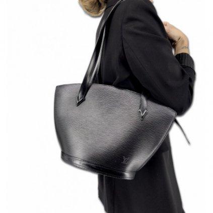 Louis Vuitton Black Epi Leather Saint Jacques bag