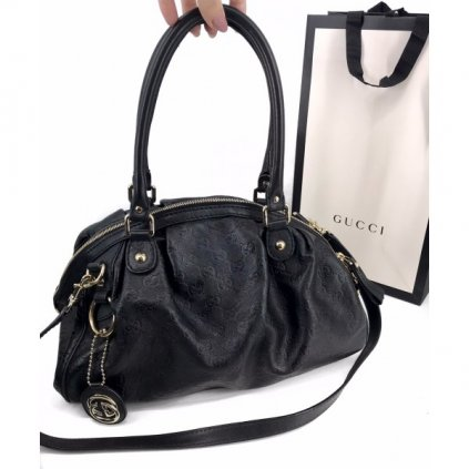 GUCCI GG Logo Black Bag