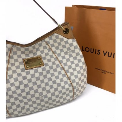 LOUIS VUITTON Damier Azur Galliera GM Bag