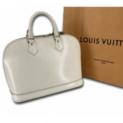 LOUIS VUITTON Alma PM Epi White Leather Handbag