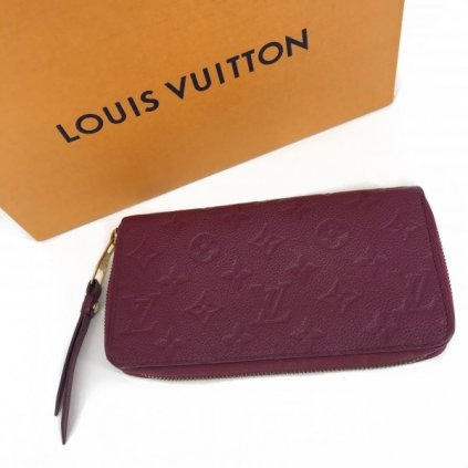 LOUIS VUITTON Scarlet Zippy Wallet Monogram Empreinte Leather