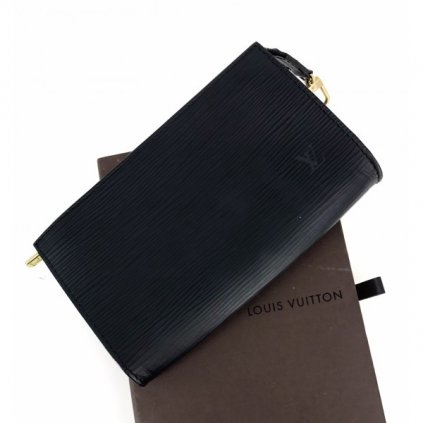 LOUIS VUITTON Noir Epi Leather Pouch