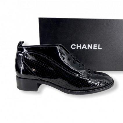 CHANEL Black Patent Shoes 39,5