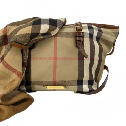 BURBERRY Canvas & Leather Bag