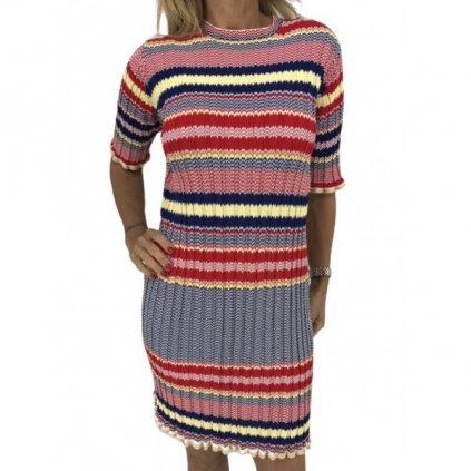 CÉLINE Colorful Striped Dress