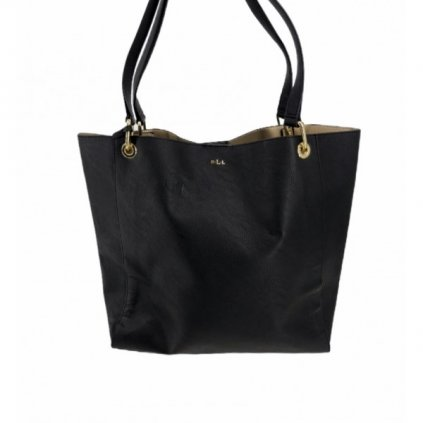 RALPH LAUREN Black Tote Shopping Handbag