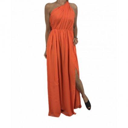 MSGM Silk Orange Dress
