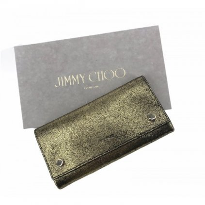 JIMMY CHOO Gold and Black Wallet