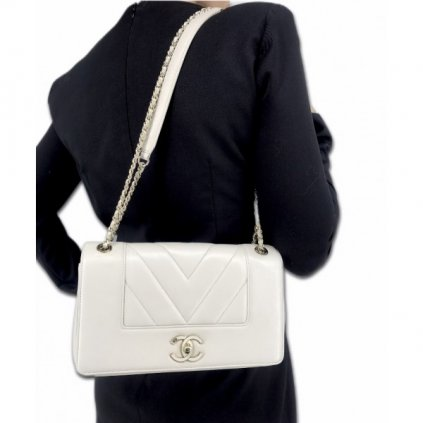 CHANEL White Crossbody Bag