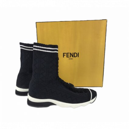 FENDI High Top Sock Sneakers 37