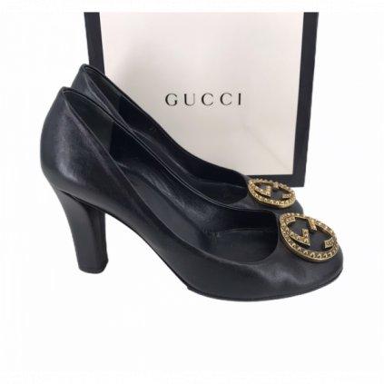 GUCCI GG Black Heel