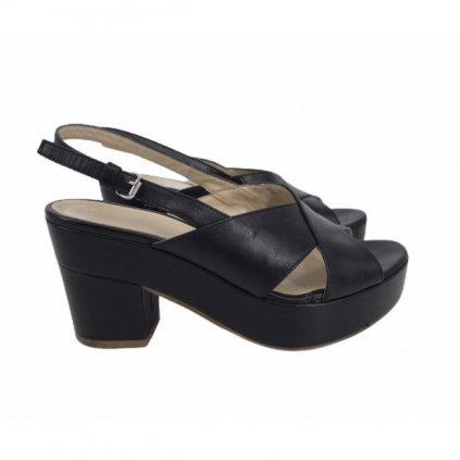 FABIO RUSCONI Black Heeled Sandals