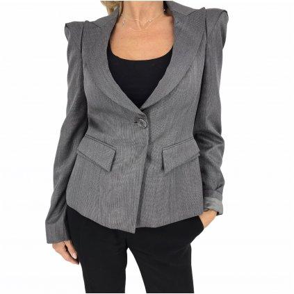 ARMANI Grey Virgin Wool & Silk Jacket