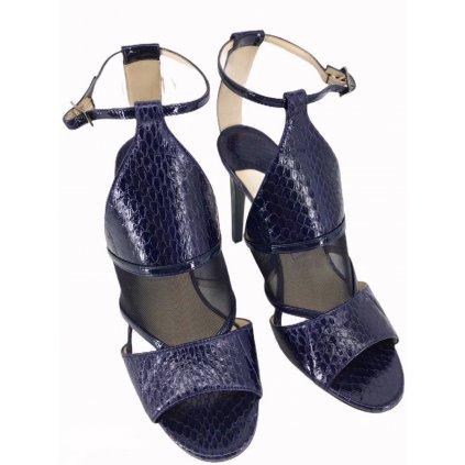 JIMMY CHOO Blue Python High Heels