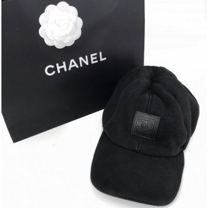 CHANEL Black Leather Cap
