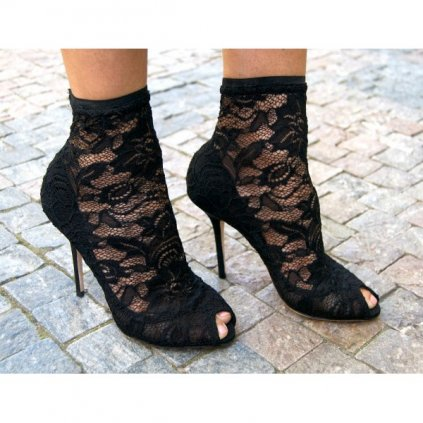 DOLCE & GABBANA High-heels With Lace NEW 37,5