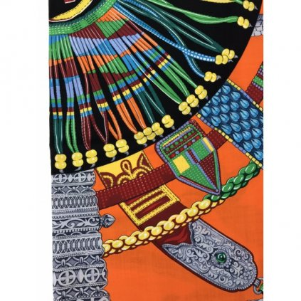HERMÉS Colorful Cashmere Scarf NEW