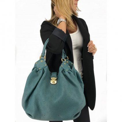 LOUIS VUITTON Mahina L in Green Lagoon Tote Handbag - Limited