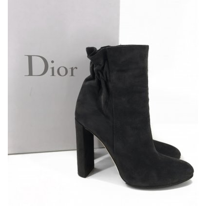 CHRISTIAN DIOR Grey Ankle Boots