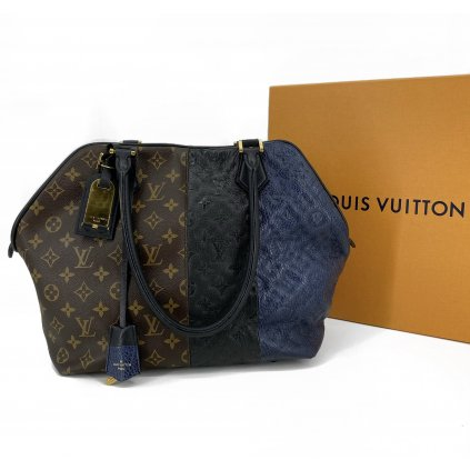 LOUIS VUITTON Monogram Block Stripes - Marine Satchel Bag