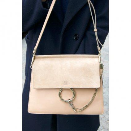 Chloé 'Faye' Medium Suede Flap Leather Shoulder Bag NEW